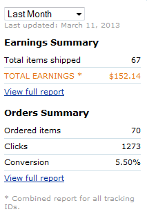 amazon earnings for febuary 2013