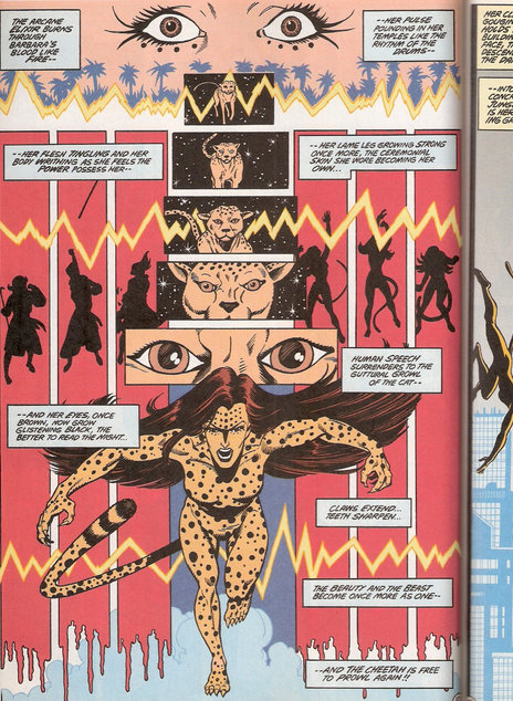 Barbara Ann Minerva as cheetah first appearance