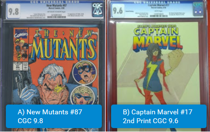 nm87 vs captain marvel 17