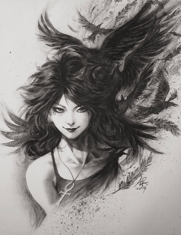 sandman death by artgerm
