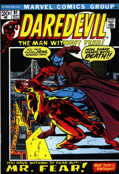 Mister Fear first appearance daredevil 91